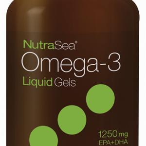 NutraSea® Omega-3 Liquid Gels, Fresh Mint | 100 Softgels