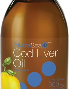 NutraSea® Cod Liver Oil, Lemon | 200 ml Liquid