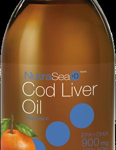 NutraSea 11874 Cod Liver Oil, Tangerine 200 ml Liquid Canada