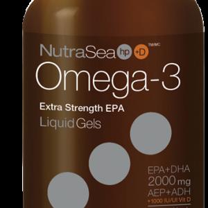 NutraSea 12263 HP +D Omega-3 Liquid Gels Fresh Mint 60 Softgels Canada