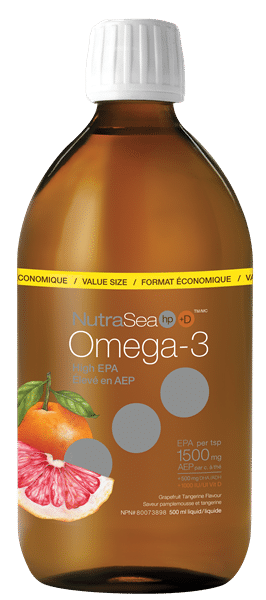 NutraSea® HP™+ D Omega-3, Grapefruit Tangerine   500 ml liquid