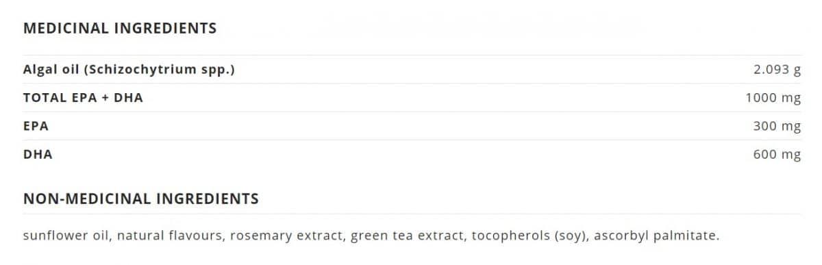 NutraVege™ Omega-3, Plant Based, Extra Strength, Lemon Canada Ingredients