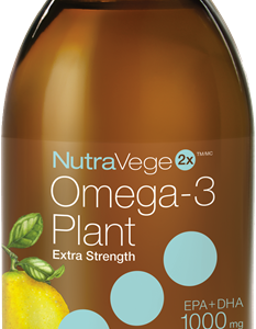NutraVege 11898 Omega-3, Plant Based, Extra Strength, Lemon 200 ml Canada