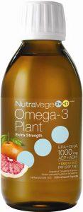 NutraVege™ Omega-3 +D, Plant Based, Extra Strength, Grapefruit Tangerine | 200 ml liquid
