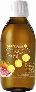 NutraVege™ Omega-3 +D, Plant Based, Grapefruit Tangerine | 200 ml liquid