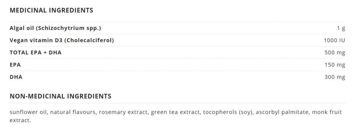 NutraVege™ Omega-3, Plant Based Canada Ingredient
