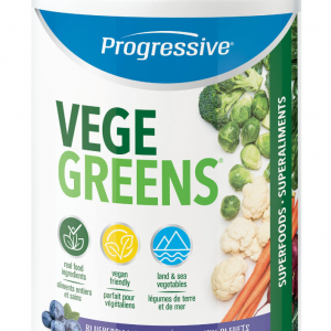 Progressive 3303 VegeGreens Blueberry Medley Flavour 265 g powder Canada