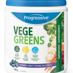 Progressive 3304 VegeGreens Blueberry Medley Flavour 530 g powder Canada