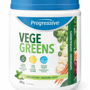 Progressive 3347 VegeGreens Cucumber Mint Flavour 530 g powder Canada