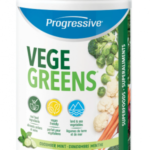 Progressive 3348 VegeGreens Cucumber Mint Flavour 265 g powder Canada