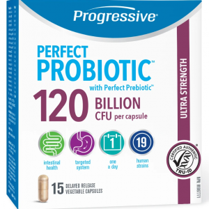 Progressive 3366 Perfect Probiotic 120 Billion 15 Capsules Canada