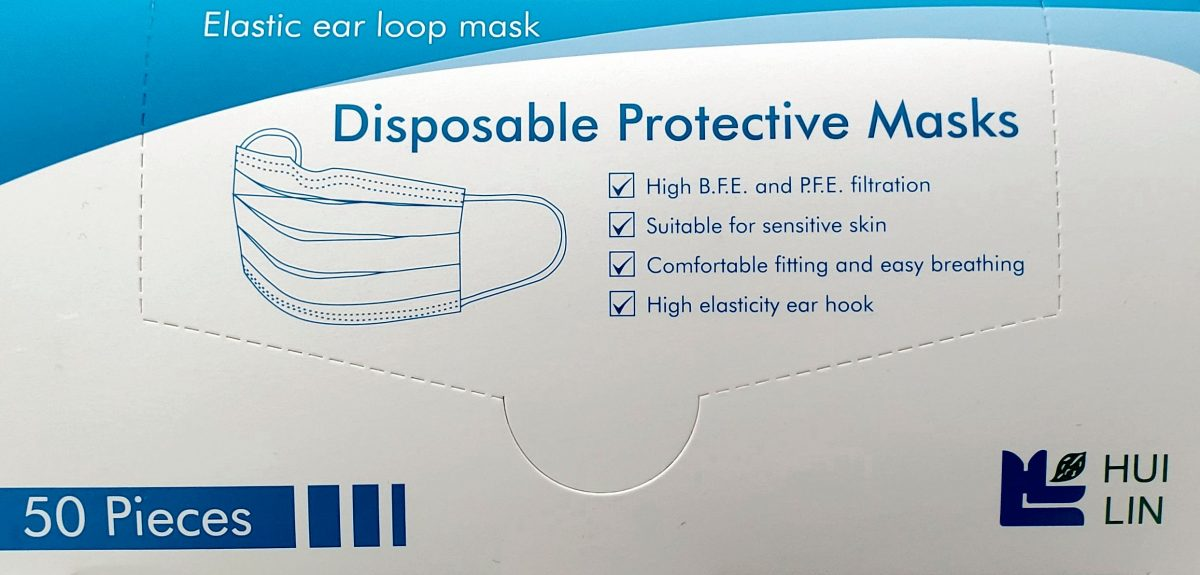 Disposable Protective Mask Canada