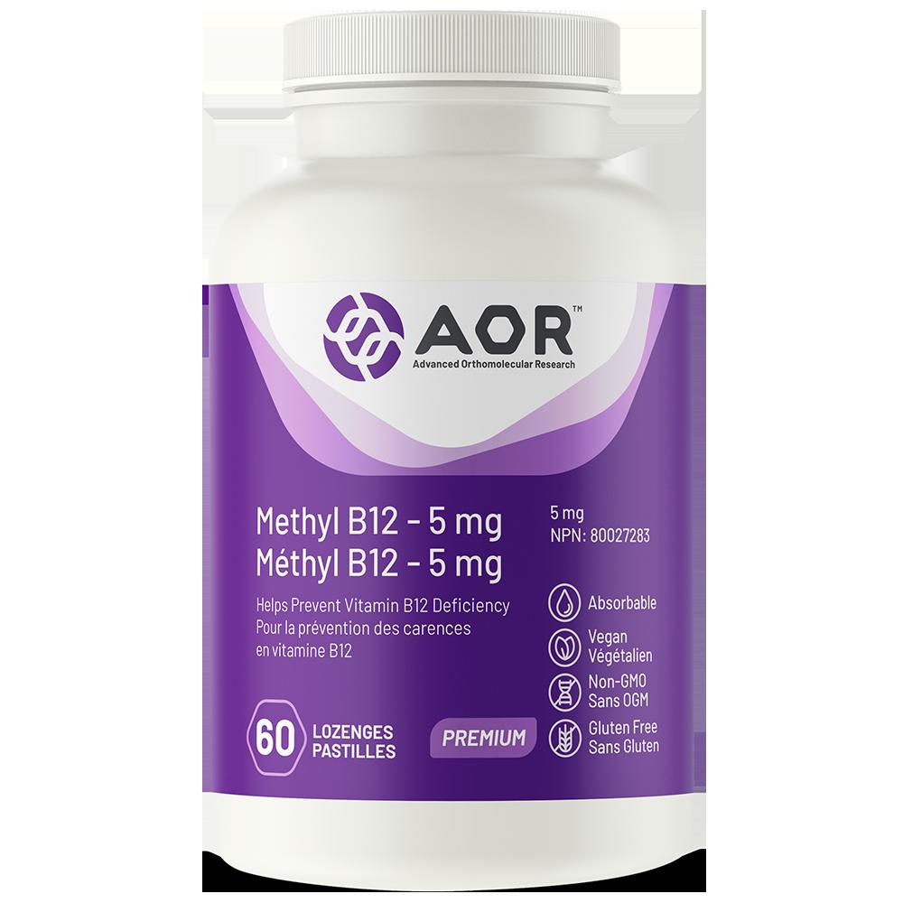 AOR Methyl B12 – 5 mg | 60 Lozenges | InnerGood.ca | Canada
