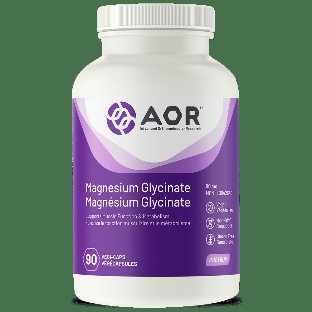 AOR 04360 - Magnesium Glycinate 90 Veg Caps Canada