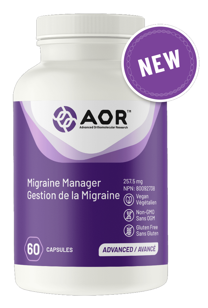 AOR 04418 Migraine Manager 60 Capsules Canada