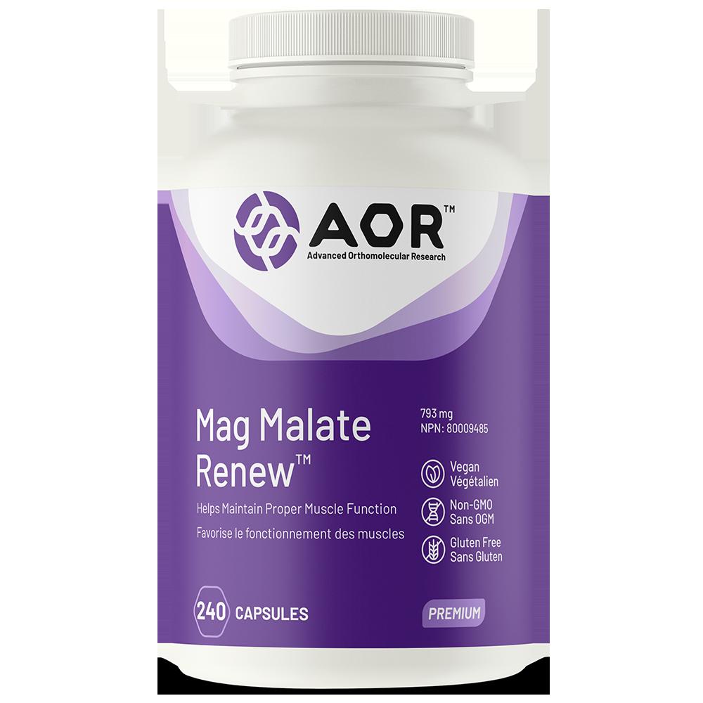 AOR Mag Malate Renew™ | 240 Vegi-Caps | InnerGood.ca | Canada