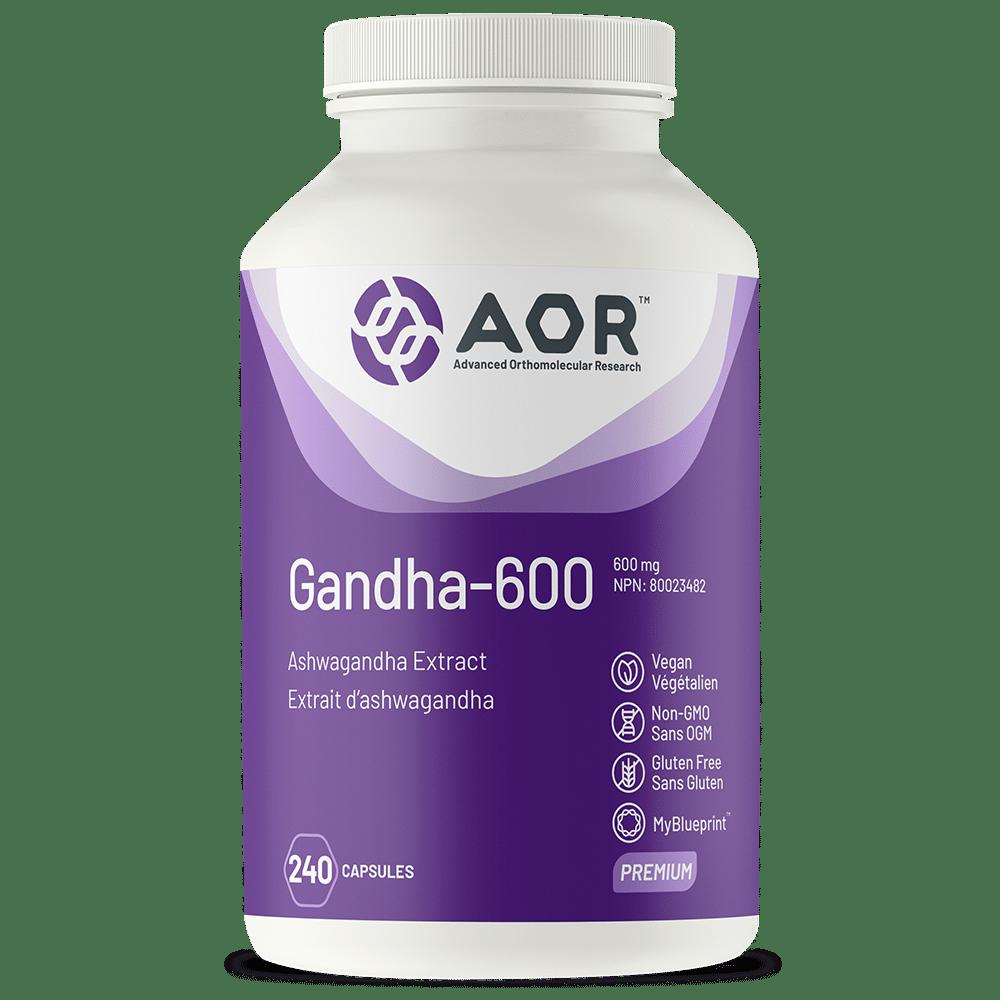 AOR Gandha-600 | 240 Vegi-Caps | InnerGood.ca | Canada