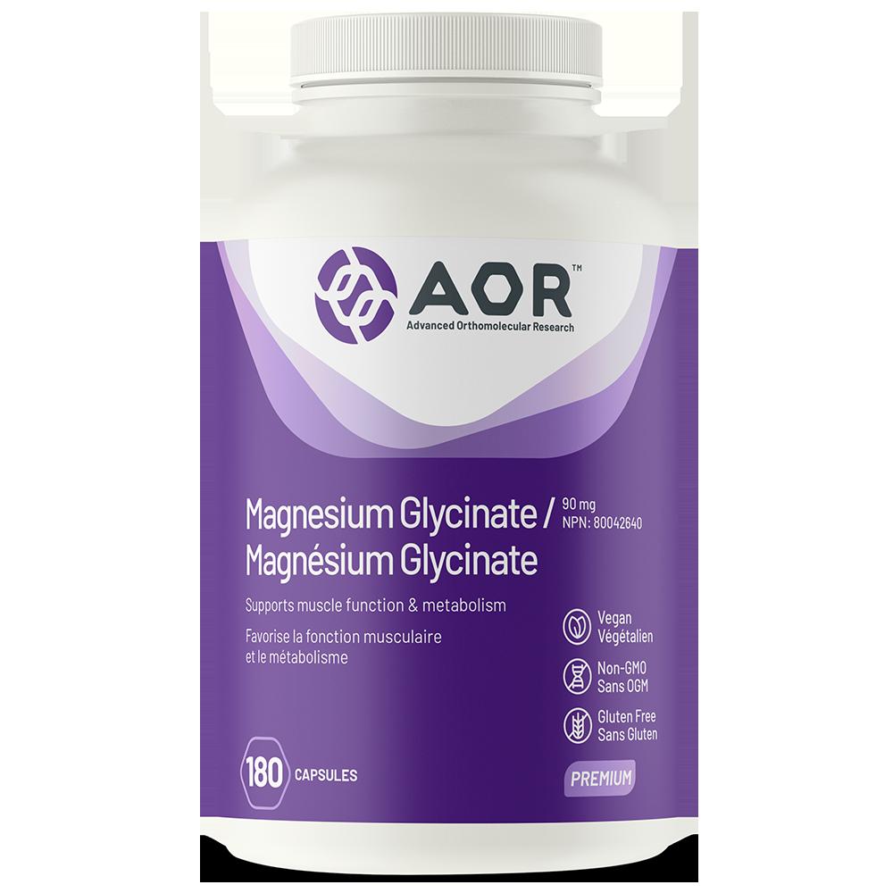AOR Magnesium Glycinate | 180 Vegi-Caps | InnerGood.ca | Canada