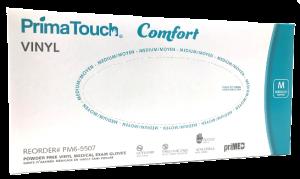 Primatouch Comfort PM6-5507 Vinyl Medical Exam Gloves box of 100 medium Canada