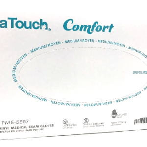 Primatouch Comfort PM6-5507 Vinyl Medical Exam Gloves box of 100 medium Canada