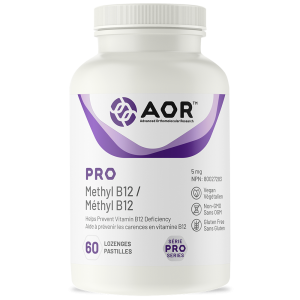 AOR Pro Methyl B12 | 60 Lozenges | InnerGood.ca | Canada