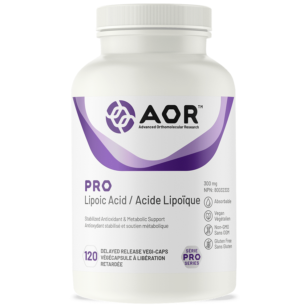 AOR Pro Lipoic Acid | 120 Vegi-Caps | InnerGood.ca | Canada