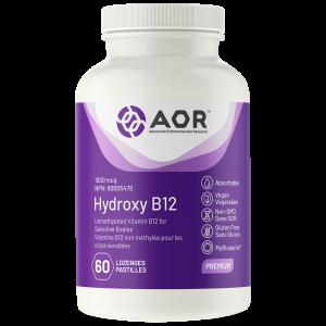 AOR Hydroxy B12 | 60 Lozenges | InnerGood.ca | Canada