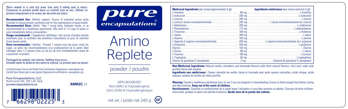 Pure Encapsulations Amino Replete   InnerGood.ca   Canada